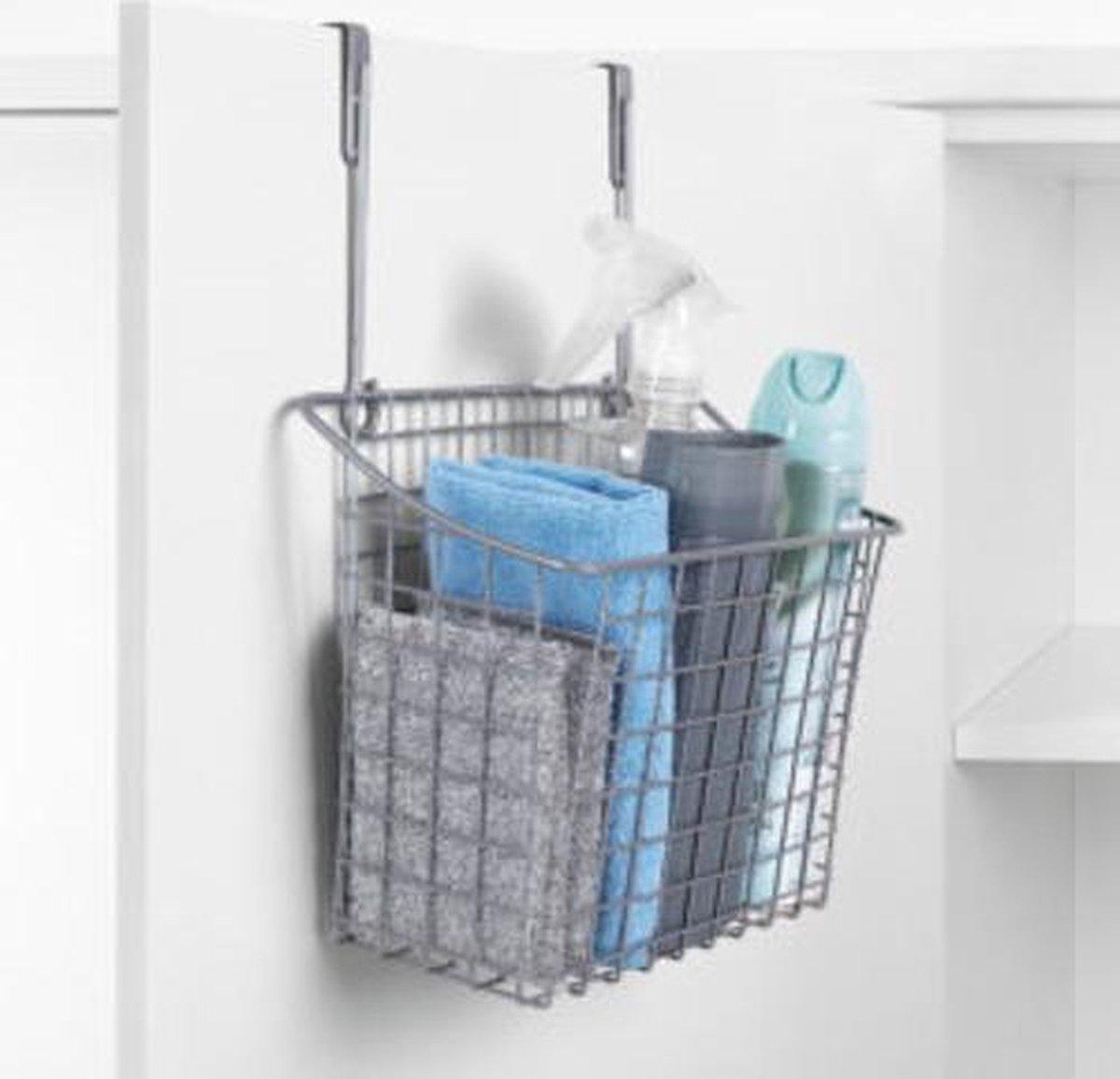 Bol Com Rayen Multifunctionele Metalen Mandje Voor Aan Een Keukenkastdeur Of Badkamerkastdeur