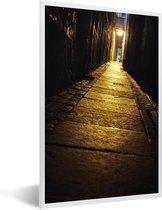 Foto in lijst - Smal steegje van de Royal Mile in Edinburgh fotolijst wit 40x60 cm - Poster in lijst (Wanddecoratie woonkamer / slaapkamer)
