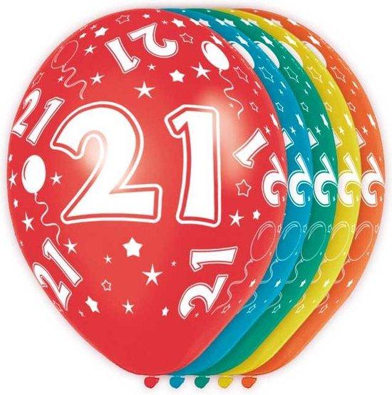 21 Jaar Verjaardag Ballonnen 5 stuks