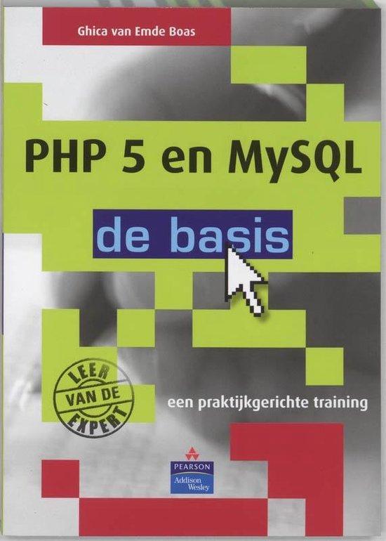 Cover van het boek 'PHP 5 en MySQL 5 - de basis'
