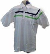 Teloon Stripe white/green tennisshirt