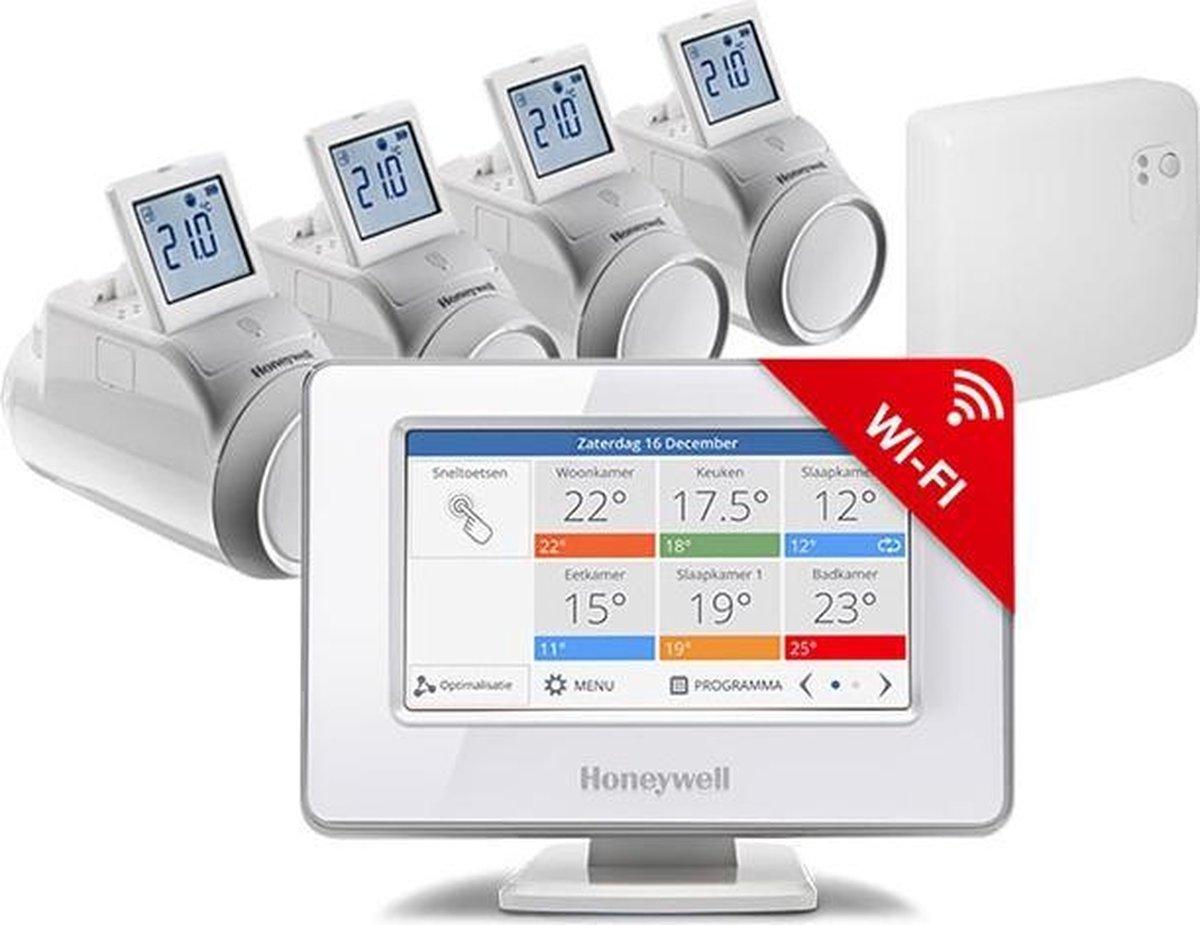 Honeywell Evohome Aan/Uit Slimme thermostaat - Wifi - Draadloos - Inclusief 4 thermostaatknoppen