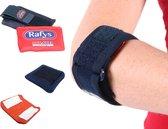 Rafys AAEB Tenniselleboogbandage ZelfZorg Pakket, rechts M blauw