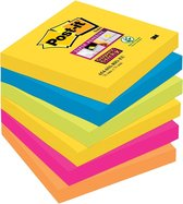 Post-it Super Sticky notes Rio - 76X76mm - 90 vel - 6 blokjes