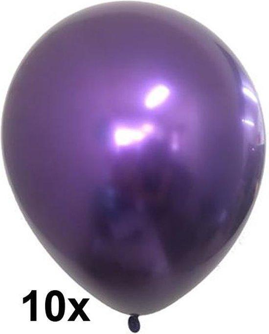 Chrome ballonnen, Paars, 10 stuks, 30 cm