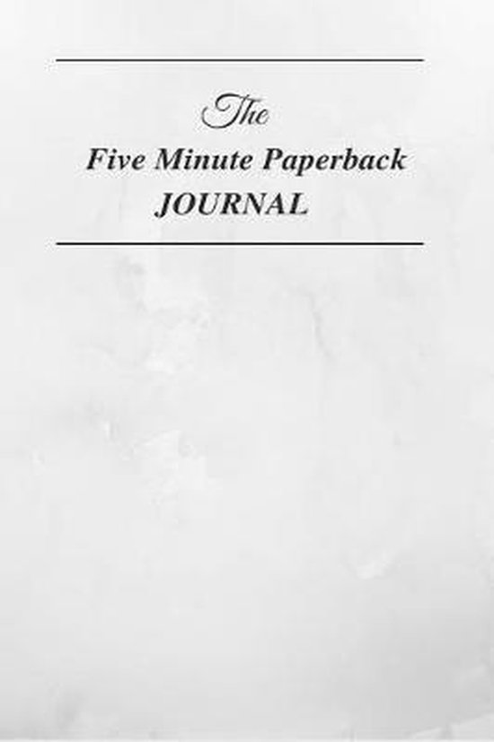 The Five Minute Paperback Journal