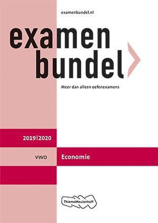 Examenbundel vwo Economie 2019/2020 - J.P.M. Blaas |