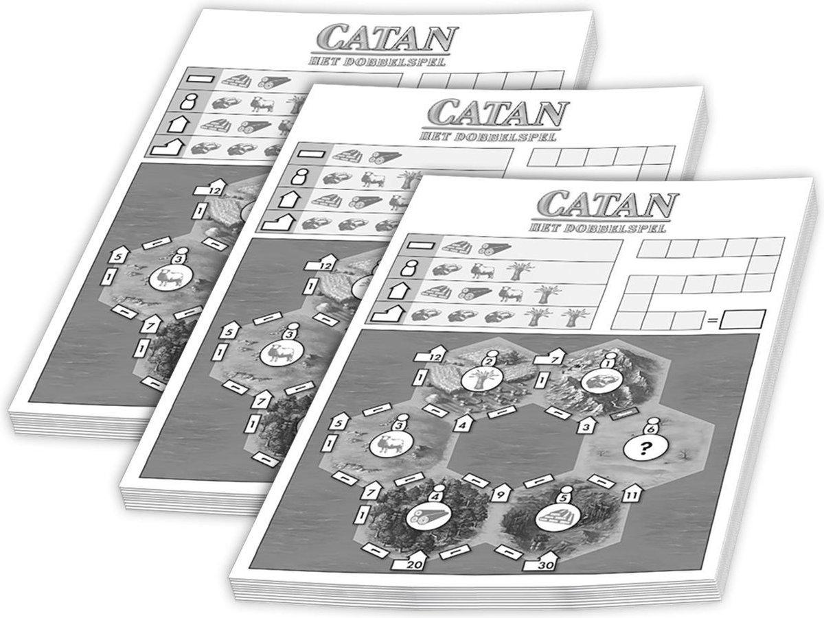 Scoreblokken Catan: Het Dobbelspel drie stuks Dobbelspel