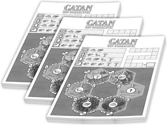 Dobbel Catan Scoreblok - 3 Stuks