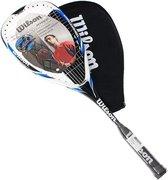 Wilson Squashracket Hyper Hammer 120 - Blauw/Wit/Zwart