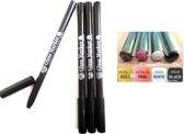 Glasstiften Porseleinstiften 4  kleuren Goud , Roze , Wit en Zwart
