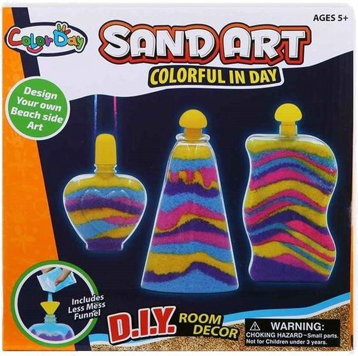 Jonotoys Zand-art Color Day 10-delig Oranje
