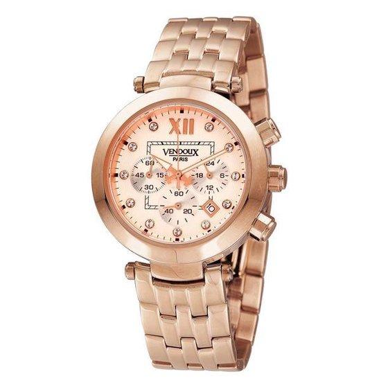 Vendoux MR11561-10 – Horloge – 36 mm – Rosékleurig