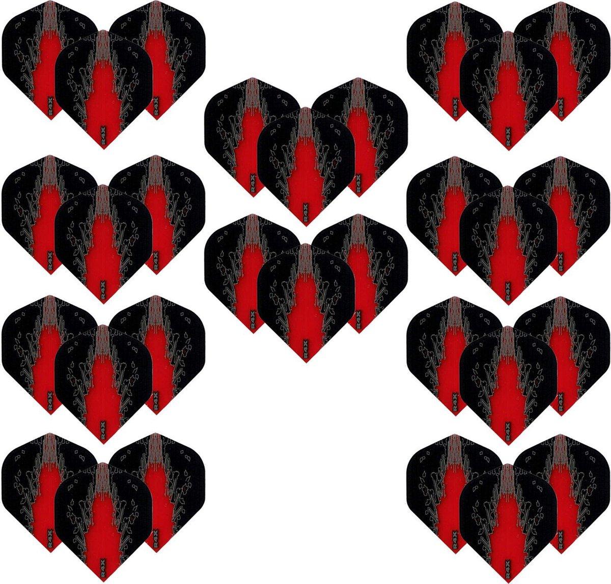 Dragon Darts - High Impact - 10 sets (30 stuks) - darts flights - Best Getest - Rood