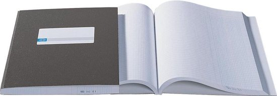 Afbeelding van Kasboek Atlanta A5 1 kolom met harde kaft