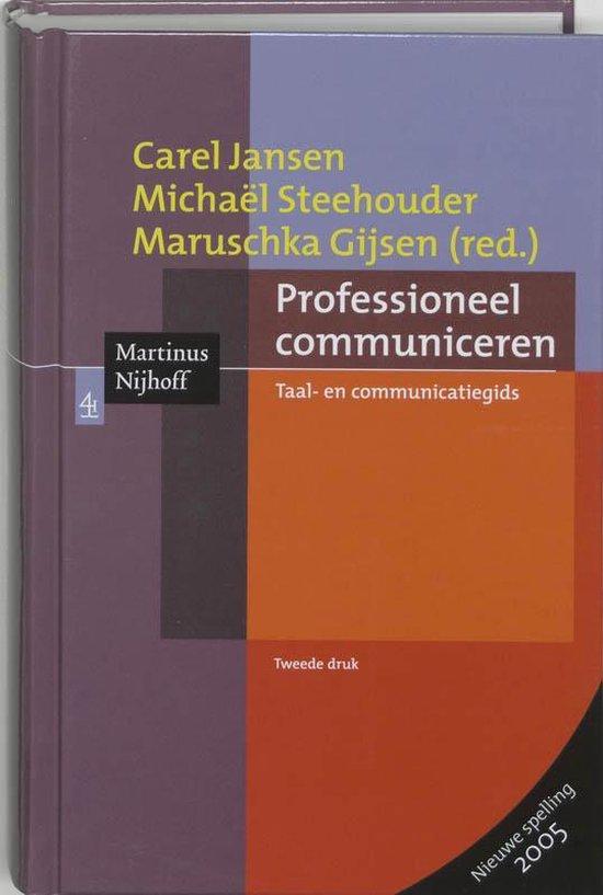 Professioneel communiceren - Carel Jansen |