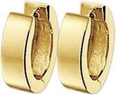 The Jewelry Collection klap-oorringen met een diameter van 12,0 mm en een breedte van 3,0 mm Vlak - Geelgoud (14 Krt.)