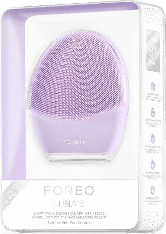 FOREO LUNA 3 Sonic - Gezichtsreinigingsborstel - Voor de gevoelige huid