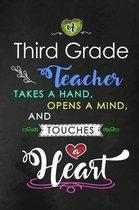 A Third Grade Teacher takes a Hand and touches a Heart