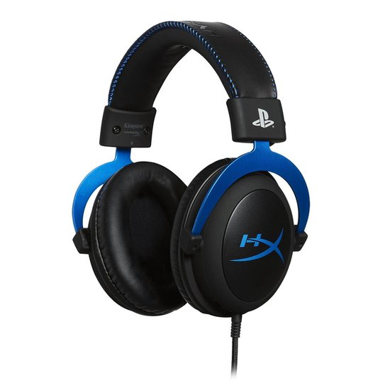HyperX Cloud Gaming Headset - Official Licensed PS4 - Zwart/Blauw