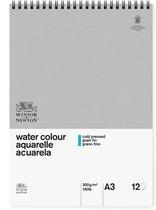Winsor & Newton Classic Aquarelpapier GF Spiraalblok 300gr 12 vel A3