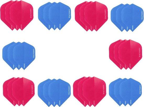 Dragon darts - 10 sets (30 stuks) - XS100 Poly flights - duo kleur pakket - Blauw en Roze  – dart flights - darts flights