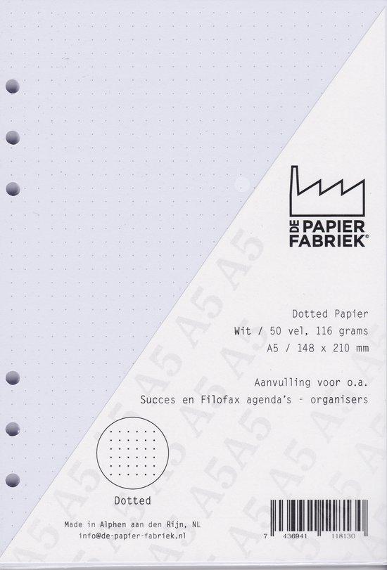 Afbeelding van Aanvulling Dotted 116g/m²  Wit Notitiepapier voor A5 Succes, Filofax of Kalpa   Organizers 100 Pag