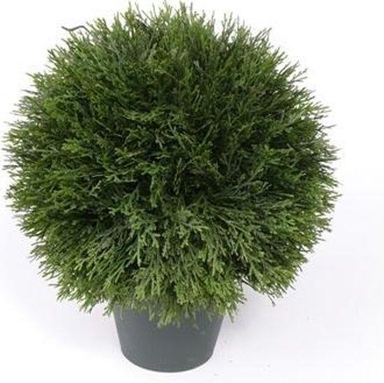 Kunstplant Cypress bol in pot 36 cm