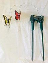 Vlinders die vliegen op solar zonne energie (werkt ook met batterij als er geen zon is). levensechte decoratieve fladderende vlinder op solar voor u thuis of in de tuin.prijs is  per 2 sets