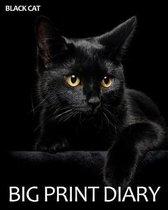 Black Cat Big Print Diary
