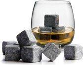 RRJ Whiskey Stones - Natuursteen ijsblokken - Geschenkverpakking met 9 stuks