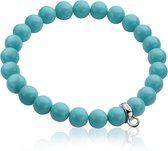 Zinzi Charms rek-armband one-size turquoise parels CH-A20DT