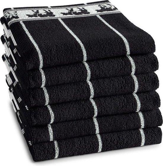 DDDDD Keukendoek Zwart Bont Black (6 stuks)