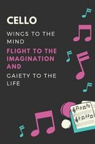 Cello Wings to the mind Flight to the imagination and Gaiety to the life