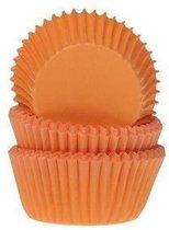 House of Marie Mini Cupcakevormpjes Oranje pk/50