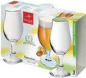 3x speciaalbier glazen - 375 ml - tulpvormige bierglazen