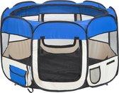 Opvouwbare Puppyren Puppytent - Blauw - 125x115x64 cm