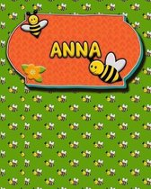 Handwriting Practice 120 Page Honey Bee Book Anna