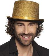 Gouden hoge hoed 58 cm