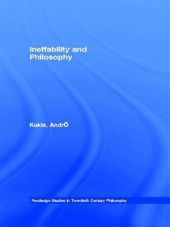 Ineffability and Philosophy