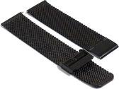 Mesh Zwart Horlogeband - 22mm - Quick Release - verstelbaar