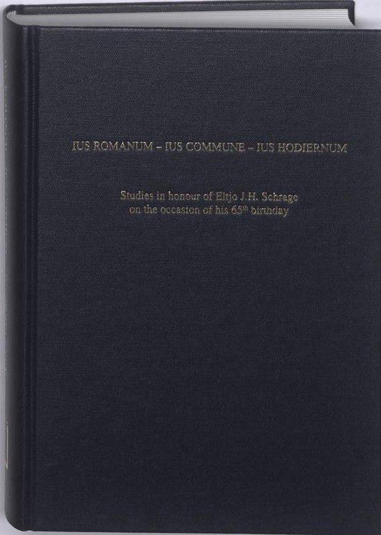 Ius romanum - Ius commune - Ius hodiernum - Harry Dondorp |