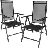 MaxxGarden 2x aluminium tuinstoel / tuin stoel zwa