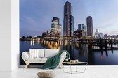 Stadsgezicht van de Nederlandse stad Rotterdam fotobehang vinyl breedte 420 cm x hoogte 280 cm - Foto print op behang (in 7 formaten beschikbaar)