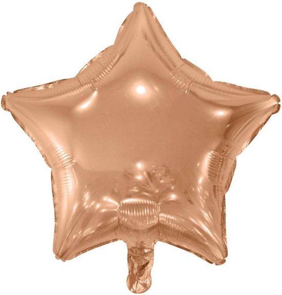 Helium Ballon Ster Rosé Goud 46cm leeg