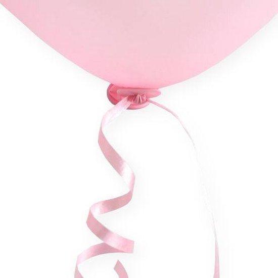 Ballon Snelsluiters Roze met lint 100 stuks