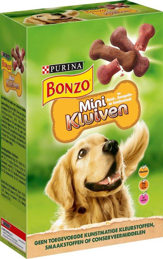 bonzo mini kluiven - hondensnacks rund, gevogelte & wild - 6 x 500 g