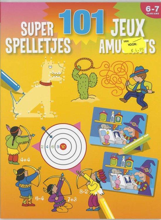 Cover van het boek '101 super spelletjes (6-7 j.) / 101 jeux amusants (6-7 a.)' van  Znu
