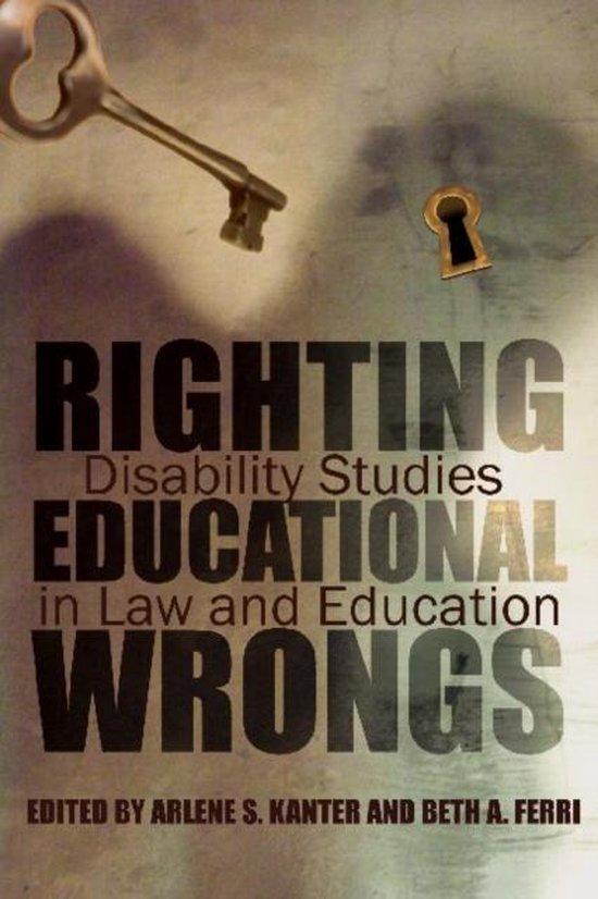 Boek cover Righting Educational Wrongs van Arlene Kanter (Hardcover)