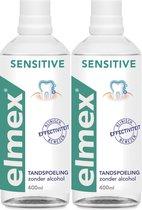 Elmex Tandspoeling Sensitive - 2x 400 ml - Voordeelverpakking